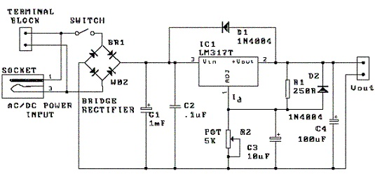 shema podesivi_izvor_napajanja_1.5-30V_power_supply_elektronika_projekti_automatika.rs