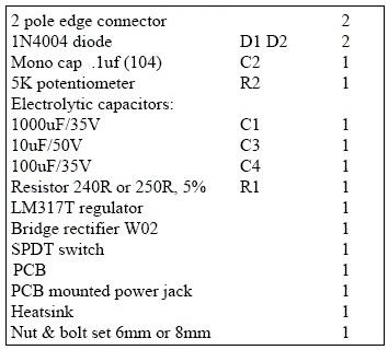 spisak delova_podesivi_izvor_napajanja_1.5-30V_power_supply_elektronika_projekti_automatika.rs