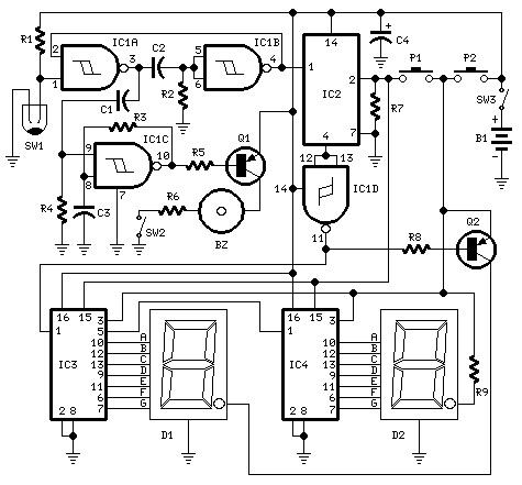 shema pedometar_brojac_koraka_elektronika_projekti_automatika.rs
