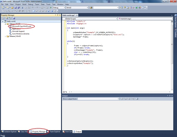 slika kako_instalirati_opencv_biblioteku_windows_visual_studio_2010_programiranje_tutorijali_automatika.rs