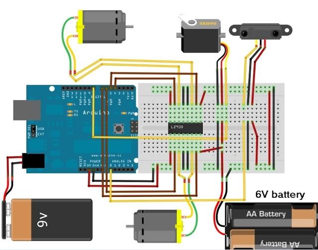 slika25 kako da napravite vas prvi robot koriscenjem arduino razvojnog sistema projekti mehatronika automatika.rs