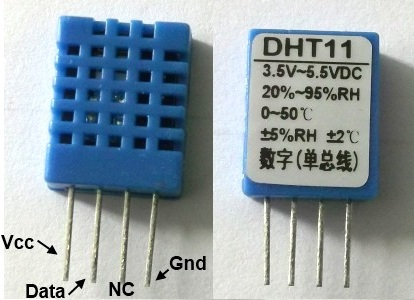 slika1 merenje temperature i relativne vlaznosti vazduha upotrebom senzora DHT11 projekti elektronika automatika.rs