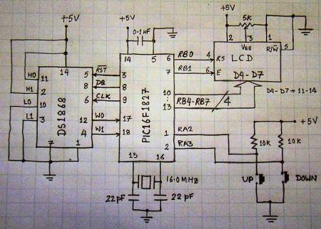 slika2 kako povezati digitalni potenciometar i mikrokontroler DS1868 elektronika projekti automatika.rs