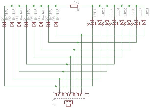 shema2 kako napraviti tester za mrezne LAN kablove elektronika automatika.rs