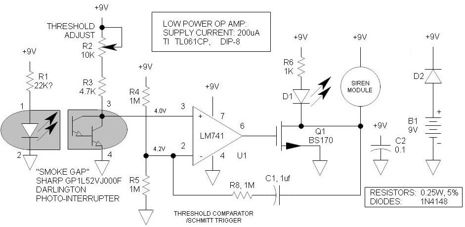 shema kako napraviti jednostavan detektor dima projekti elektronika automatika.rs