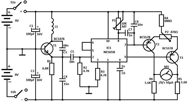 shema napravite jednostavan detektor metala projekti automatika.rs