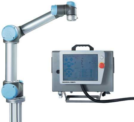 Universal-Robots-UR5-with-controller universal robots zacobria ur valksswagen robot fabrika robotika automatika.rs