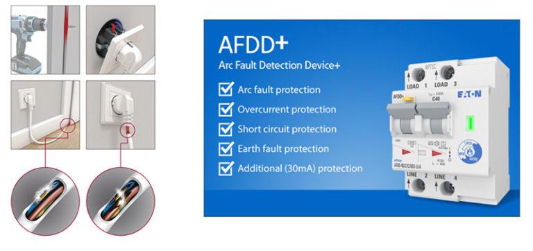Uređaj za detekciju elektrolučnog pražnjenja za smanjenje električnog bezbednosnog rizika kompanije Eaton